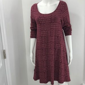 Mata Traders Organic Cotton MED flare dress